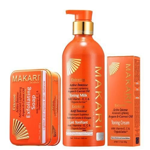 MAKARI EXTREME CARROT & ARGAN LOTION + CREAM + SOAP