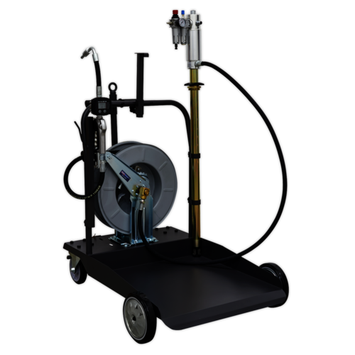 Oil Dispensing System Air Operated with 10mtr Retractable Hose Reel - AK4562D