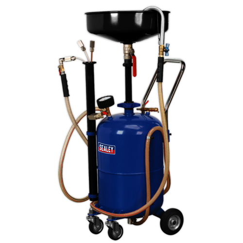 Mobile Oil Drainer with Probes 35ltr Air Discharge - Sealey - AK456DX