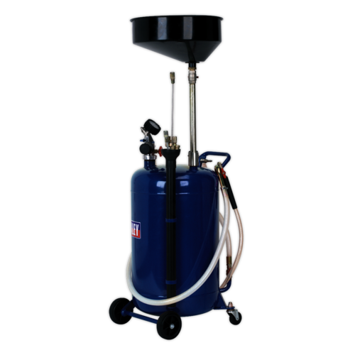 Mobile Oil Drainer with Probes 90ltr Air Discharge - Sealey - AK459DX