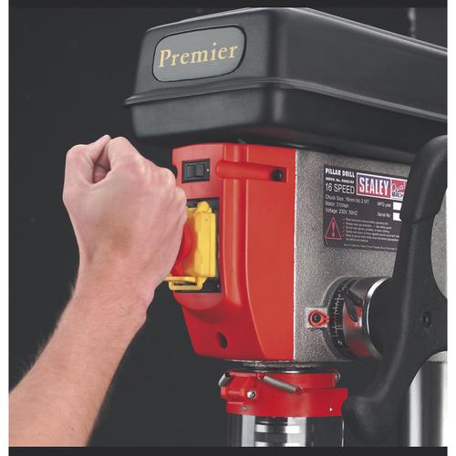 Pillar Drill Floor 16-Speed 1610mm Height 230V - Sealey - PDM170F