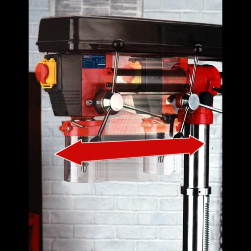 Radial Pillar Drill Bench 5-Speed 790mm Height 550W/230V - Sealey - GDM790BR