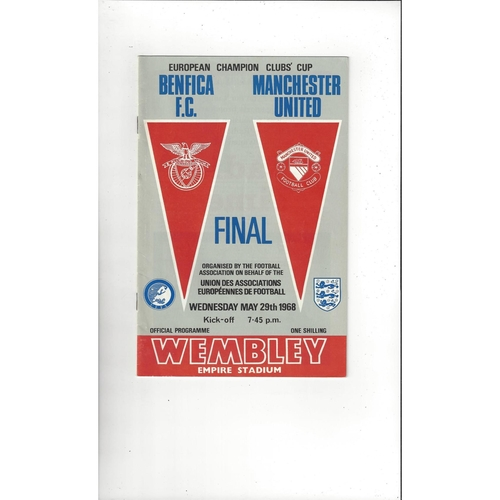 1968 Benfica v Manchester United European Cup Final Football Programme