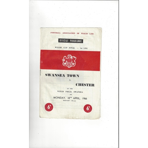 1966 Swansea v Chester Welsh Cup Final Football Programme