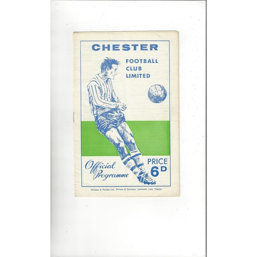 1966 Chester v Swansea Welsh Cup Final Football Programme