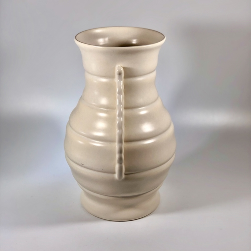 Large Art Deco creamware pottery vase
