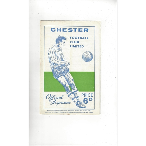 1966/67 Chester v Wrexham Welsh Cup Semi Final Football Programme