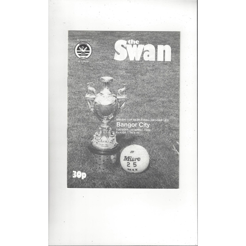 1981/82 Swansea v Bangor City Welsh Cup Semi Final Football Programme