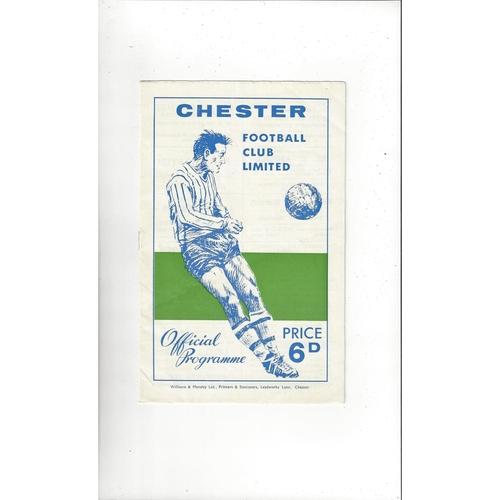 Chester v Wrexham Welsh Cup Football Programme 1965/66
