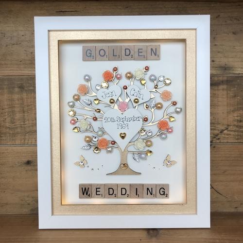"LED ""Golden wedding "" frame"