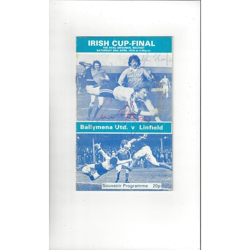 1978 Ballymena United v Linfield Irish Cup Final Football Programme