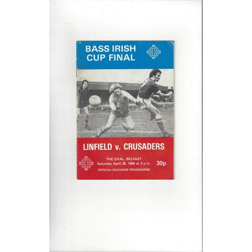 1980 Linfield v Crusaders Irish Cup Final Football Programme