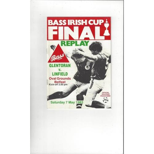 1981 LINFIELD Vs GLENTORAN Bass Irish Cup Final Football Programme