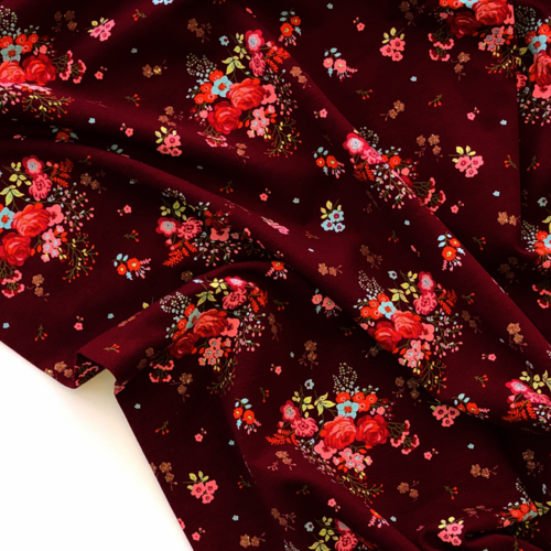 Glitz Floral Berry Jersey