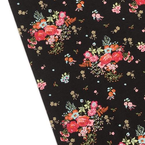 Glitz Floral Black Jersey