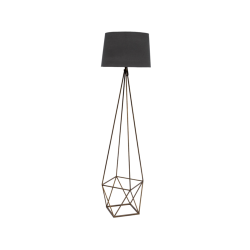 Platonic Floor Lamp With Grey Shade