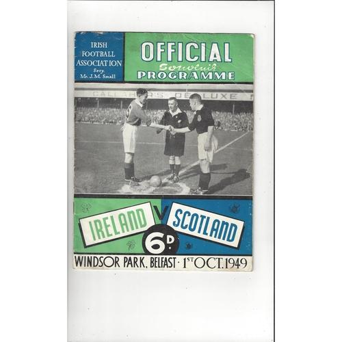 1949 Northern Ireland v Scotland Football Programme