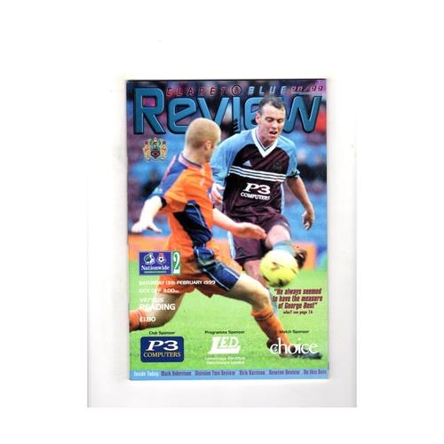 1998/99 Burnley v Reading Football Programme