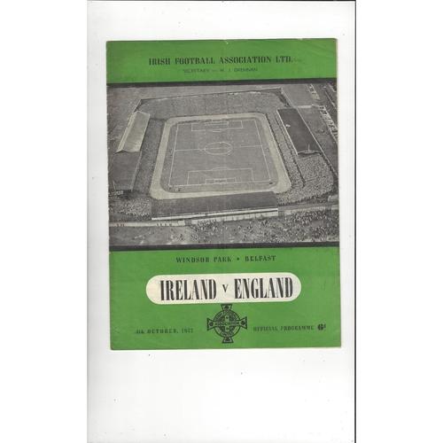 1952 Northern Ireland v England Football Programme