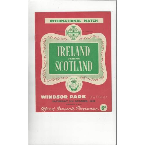 1959 Northern Ireland v Scotland Football Programme