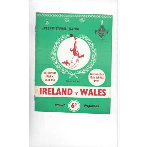 1961 Northern Ireland v Wales Football Programme