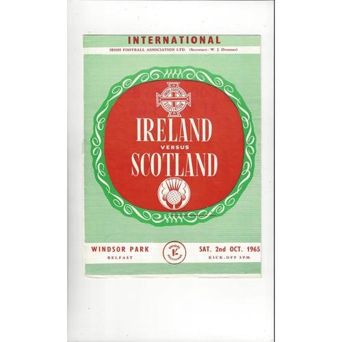 1965 Northern Ireland v Scotland Football Programme