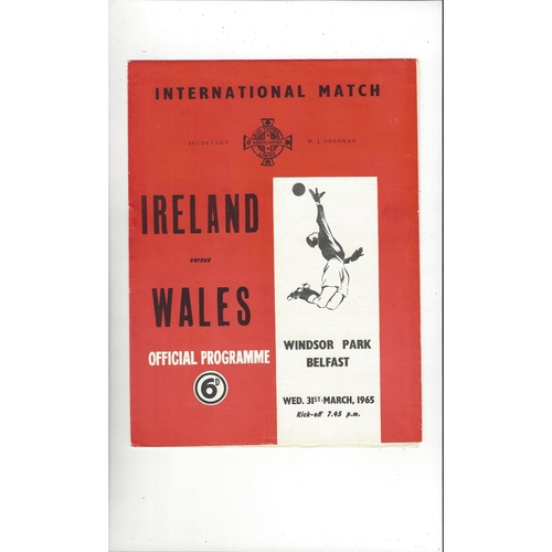 1965 Northern Ireland v Wales Football Programme