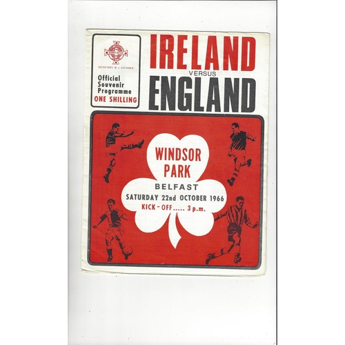 1966 Northern Ireland v England Football Programme