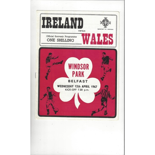 1967 Northern Ireland v Wales Football Programme