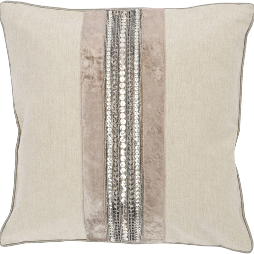 Gatsby Taupe Square Cushion