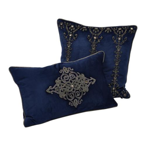 Pembroke Velvet Square Cushion