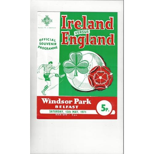 1971 Northern Ireland v England Football Programme
