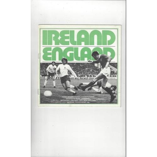 1973 Northern Ireland v England Football Programme