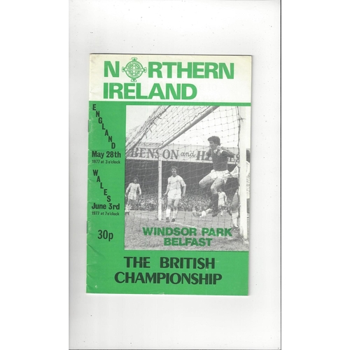 1977 Northern Ireland v England & Wales Football Programme