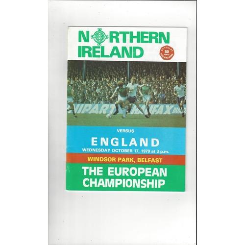 1979 Northern Ireland v England Football Programme Oct.