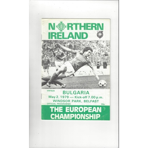 1979 Northern Ireland v Bulgaria Football Programme
