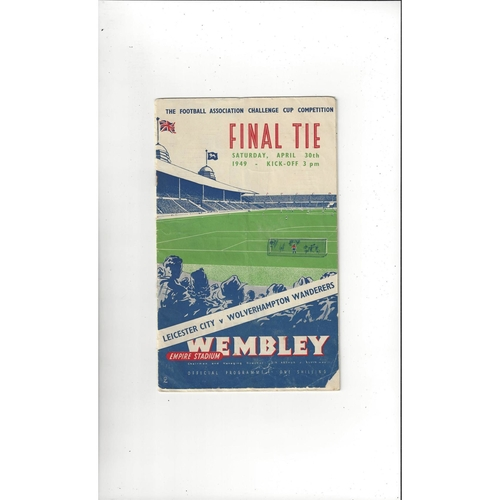 1949 Leicester City v Wolves FA Cup Final Football Programme