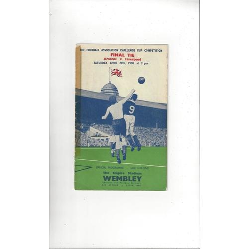 1950 Arsenal v Liverpool FA Cup Final Football Programme