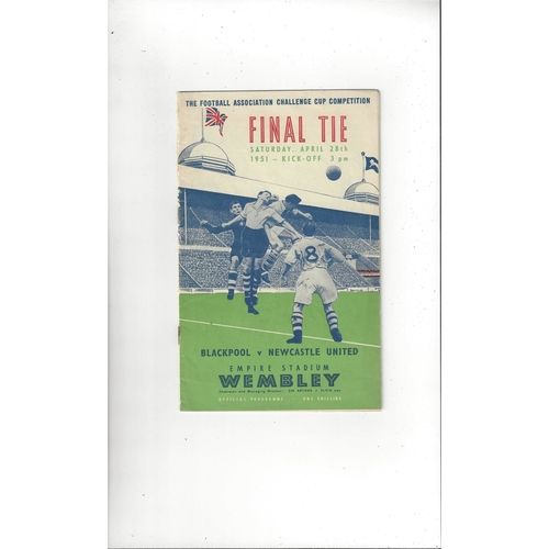 1951 Blackpool v Newcastle United FA Cup Final Football Programme