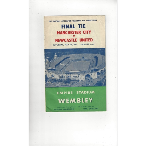 1955 Manchester City v Newcastle United FA Cup Final Football Programme