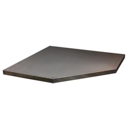Stainless Steel Worktop for Modular Corner Cabinet 865mm - Sealey - APMS60SS