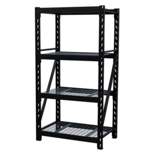 Heavy-Duty Racking Unit with 4 Mesh Shelves 640kg Capacity Per Level - AP6372