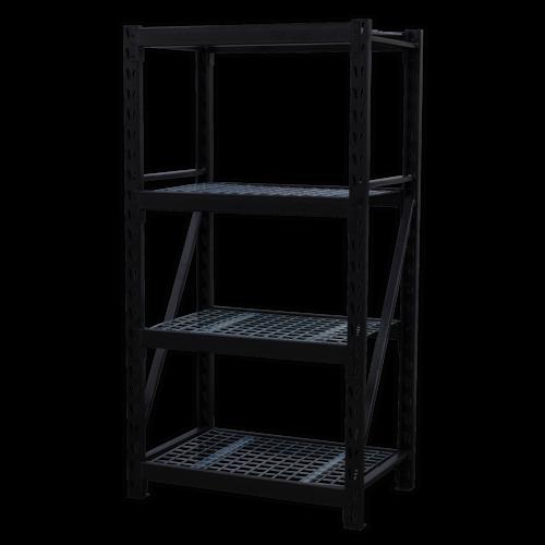 Heavy-Duty Racking Unit with 4 Mesh Shelves 640kg Capacity Per Level - AP6372