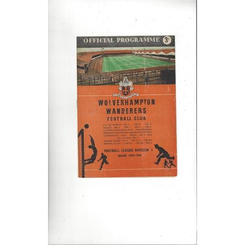 1959 Wolves v Nottingham Forest Charity Shield Football Programme