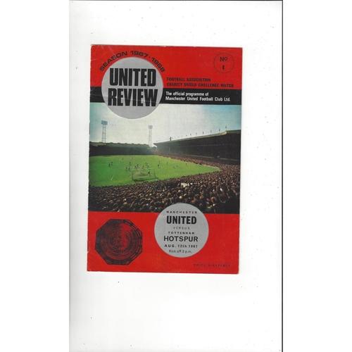 1967 Manchester United v Tottenham Hotspur Charity Shield Football Programme