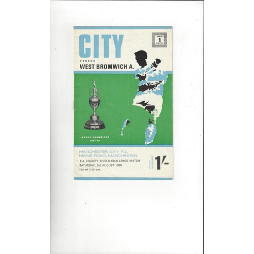 1968 Manchester City v West Bromwich Albion Charity Shield Football Programme