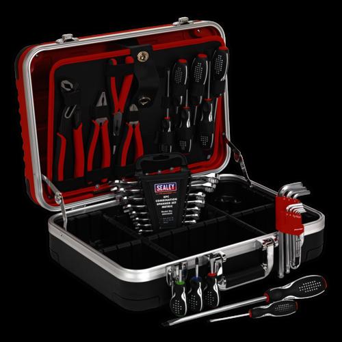 Professional HDPE Tool Case Heavy-Duty & 32pc Tool Kit - Sealey - AP616COMBO