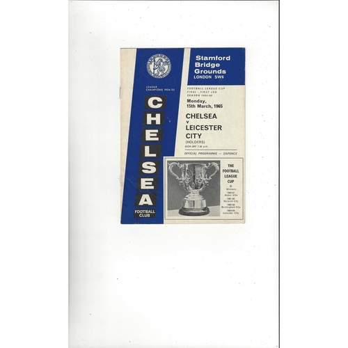 1965 Chelsea v Leicester City League Cup Final Football Programme