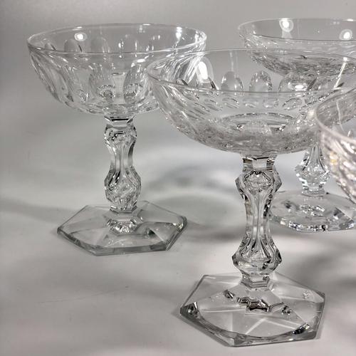Val Saint Lambert crystal champagne coupes