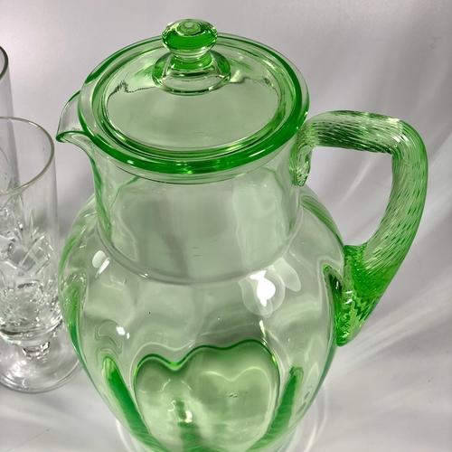 Fun, large-scale Uranium lemonade jug with lid